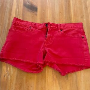 Lucky Brand Red Jean shorts
